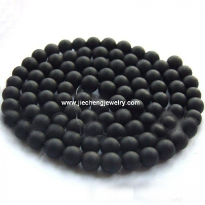 China AB0069 Black Matte Onyx Beads on sale