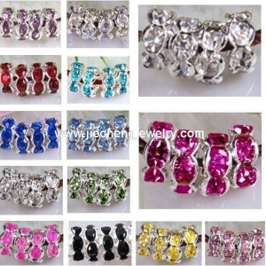China JF2008 Rhinestone Rondelle Spacer Beads on sale