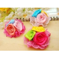 Cute Vintage Hair Bow Clips and lace flower for girls