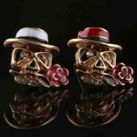 Custom Design Men'S Earring Skull Alloy Hot Sell