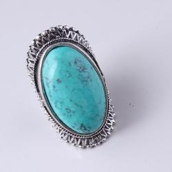 China 2012 Top Popular Sterling Silver Large Turquoise Ring Alloy supplier