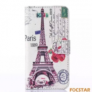 China F-SMS6LC045 Tower Painting Leather Case for Samsung Galaxy S6 G9200 on sale