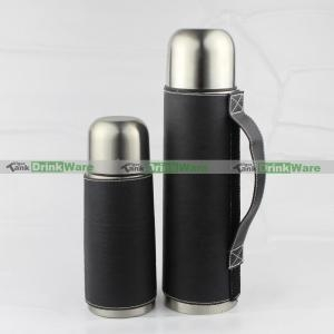 China 500Ml Leather Wrapped Thermos Flask Set VTF-0128 on sale