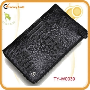 China Crocodile genuine leather men's clutch bag on sale