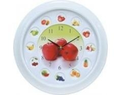 China plastic clock wall,Fruit decorated wall clock on sale