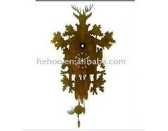 China quartz clock wooden cuckoo clock on sale