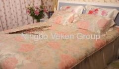 China Printed silk bed sheets on sale
