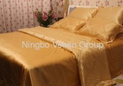 China 100% organic mulberry silk bed sheets on sale