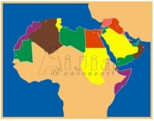 China Puzzle Map Middle East on sale