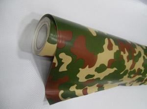China camouflage color car wrapping film on sale