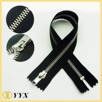 China 18cm Dress long chain metal Y teeth zipper|metal zipper on sale