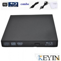 USB Blu-Ray DVD Drive, Supports Windows XP, Vista, Win 7