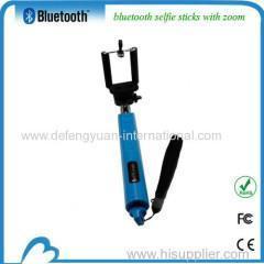 China Extendable zoom bluetooth selfie stick tripod on sale