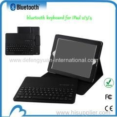 China Durable leather case with bluetooth keyboard for ipad2 and 3 and 4 on sale