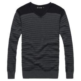 China Knitting stripe model sweater for men on sale