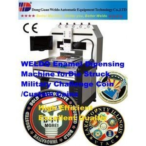 China Enamelling Dispenser Machine for Army challenge coins on sale