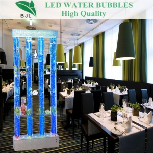 China floor standing led acrylic round aquarium on sale