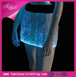 China YQ-14 LED illuminated skirt, short skirt, wrap skirt, performance skirt, sexy skirt, party costume on sale