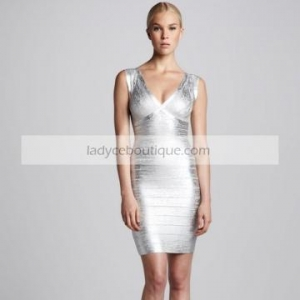 China 2014 fashion women dress sliver bandage dress on sale