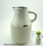 Stoneware Handle Vase