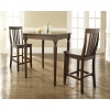 China 3 Piece Turned Leg Pub Table Set with School House Stools for sale