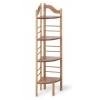 China 4 Shelf Corner Baker's Rack - Golden Oak for sale