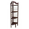 China 4 Shelf Corner Baker's Rack - Chestnut for sale