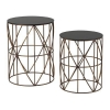 China 2 Piece Bradfield Drum Side Table Set for sale