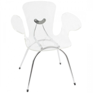 China Acrylic Cradle Chair in Clear on sale