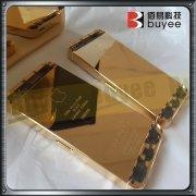 China iphone 5 full gold housing engraving text on sale