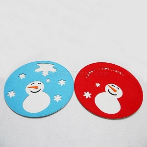 China Christma coaste pot pad table mat in two layer ZFC-12023 on sale