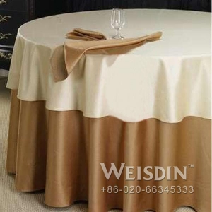 China fashion polyester jacquard table cloth for wedding on sale