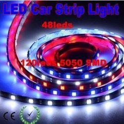 China 120cm 5050 48leds waterproof IP65 flexible LED Car strip Light on sale