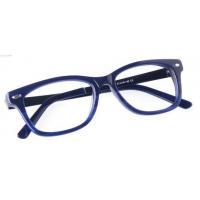 Unisex full frame mixed material eyeglasses