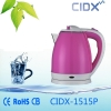 China 1.5L Hot Sale Pink Electric Kettle(CIDX-1515P) for sale