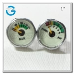 1 Chrome-plated luminous gauges