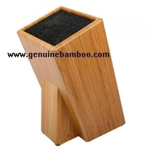 China 2012 New Design Bamboo Knife Block With Bristle on sale