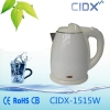 China 1.5L White Electric Kettle (CIDX-1515W) for sale