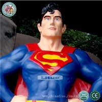 Fiberglass Life Size Superman Sculpture Model