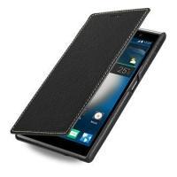 TETDED Premium Leather Case for ZTE Grand Memo II LTE -- Dijon II (LC: Black)