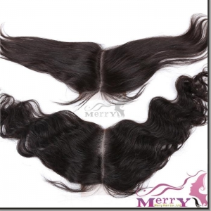 China Lace closure middle part closure on sale