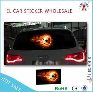 China customized flashing el car sticker/el equalizer car sticker on sale