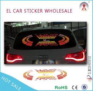 China flashing car sticker/el panel for car sticker with 12v inverter on sale