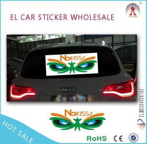 China EL Car Sticker Product  professional el car sticker /equalizer el car sticker factory on sale