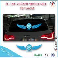 China LED Angle wings flashing el car sticker wholesale on sale