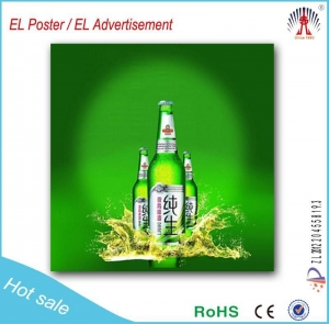 China Hot sale beer el posters flashing animated el poster wholesale in China on sale