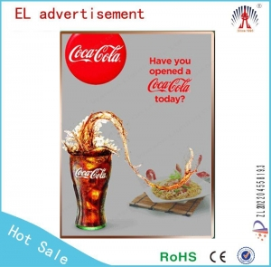 China EL animated sheet/el panel poster/ advertisement for wine on sale