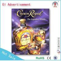 Customized size ourdoor el poster el light advertisement with holder 2015