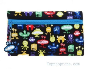 China Cute neoprene pen pencil pouch bag for kids school on sale