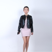 China BL001 2013 new style black short women jacket for winter on sale